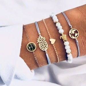 5 Pcs Pineapple Bracelets